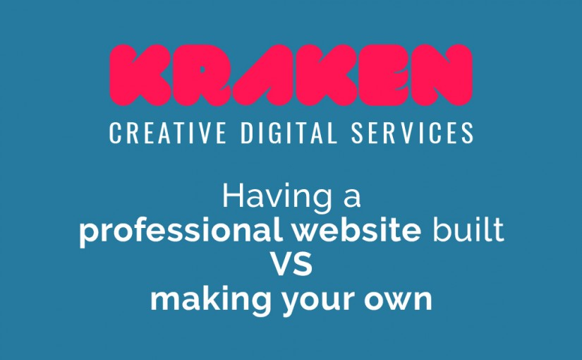 Having a professional website built VS making your own