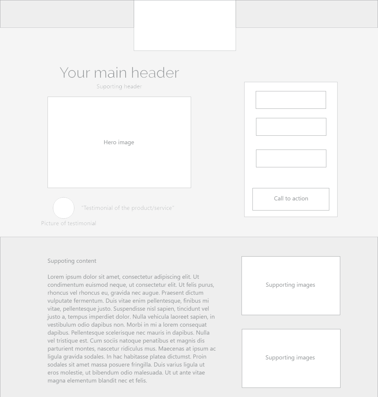 Kraken Creative Digital Services - Landing page layout